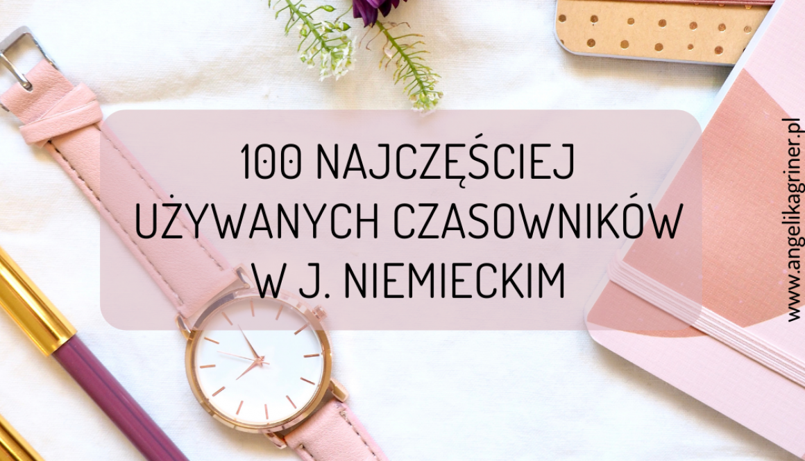 100 najczęściej używanych czasowników w j.niemieckim