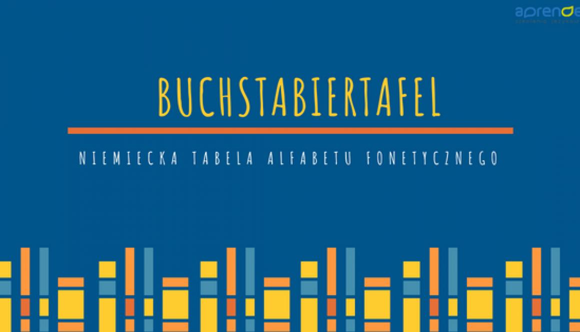 Buchstabiertafel - tabela literowania w języku niemieckim