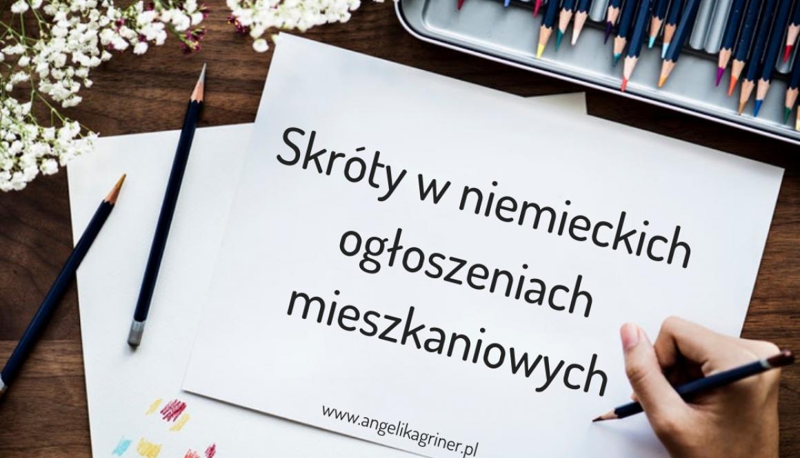 skróty w niemieckich ogłoszeniach mieszkaniowych