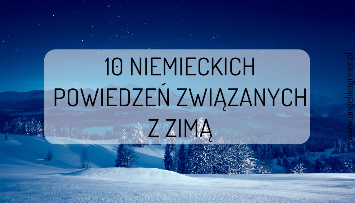 10 niemieckich powiedzeń związanych z zimą